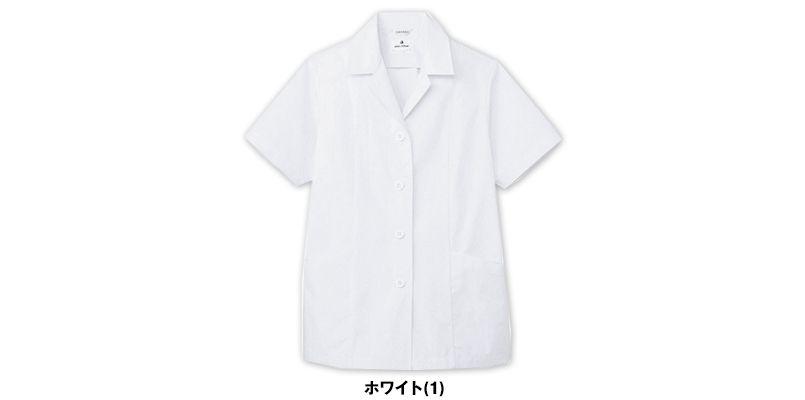 AB-6409 チトセ(アルベ) 白衣/半袖/襟あり(女性用) 色展開