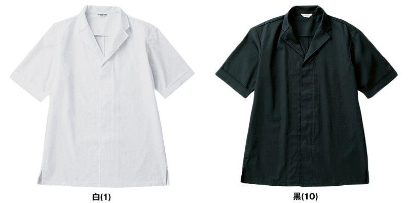 DN-6854 チトセ(アルベ) 白衣/半袖(男女兼用) 色展開