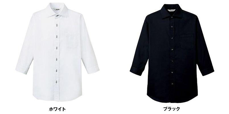 EP-7822 チトセ(アルベ) ワイドカラーシャツ/七分袖(男女兼用) 色展開