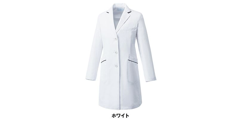 MZ-0107 ミズノ(mizuno) パイピング レディースドクターコート(女性用) 色展開