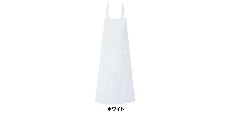 T-155 チトセ(アルベ) 綿100%厨房胸当てエプロンポケット無し(男女兼用) 色展開