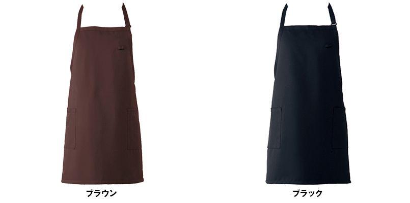 T-6724 チトセ(アルベ) 胸当てエプロン(男女兼用) 色展開