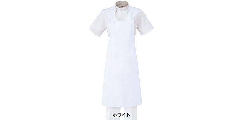 T-70 チトセ(アルベ) 厨房 胸当てエプロン(ポケ無し)(男女兼用) 色展開