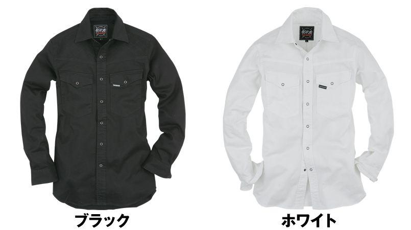 K-006 イーブンリバー 影武者 刺子シャツ 色展開