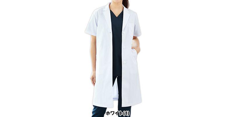 2532PO FOLK(フォーク) レディース診察衣シングル 半袖(女性用) 色展開