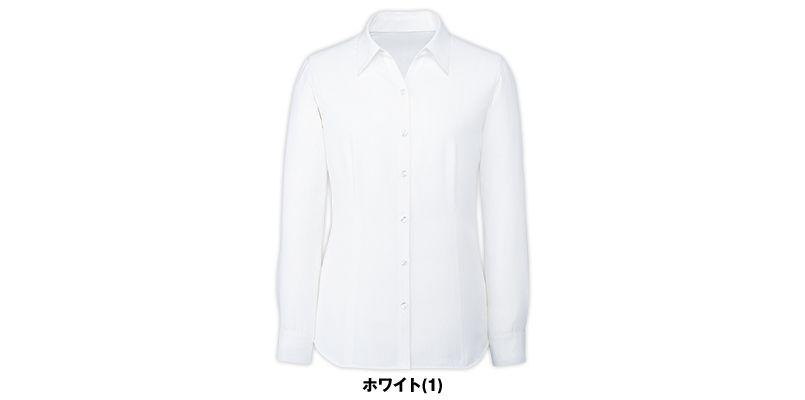 FB75531 nuovo(ヌーヴォ) 長袖ブラウス ポーチ付き(透け防止) 色展開