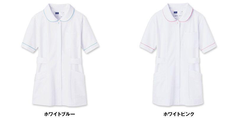 自重堂 WH11101 チュニック WHISEL チュニック パイピング かわいい襟元(女性用) 色展開