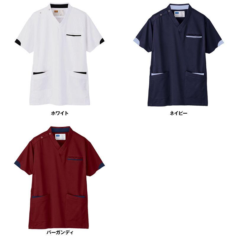 自重堂 WH11985 WHISEL スクラブ(男女兼用)袖口配色 色展開
