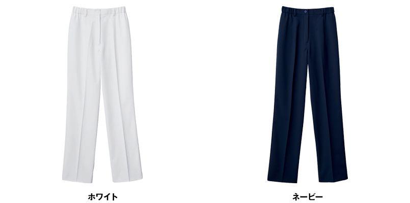 自重堂 WH12012 WHISEL レディースパンツ(女性用) すっきり ウエストゴム(両サイド) 色展開