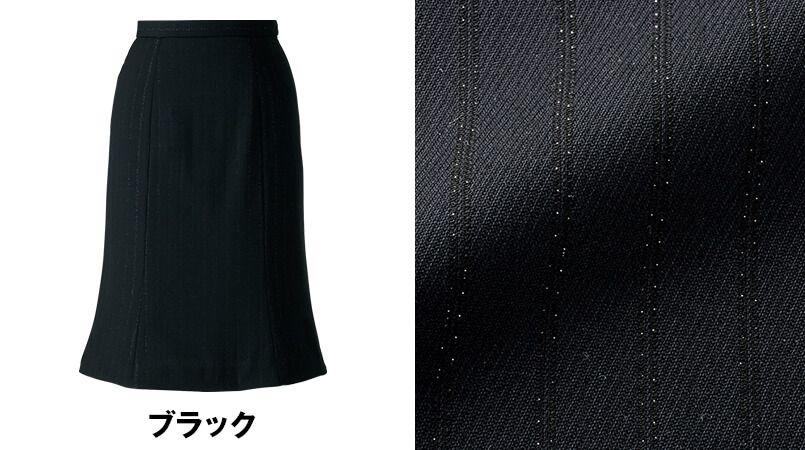 en joie(アンジョア) 51702 [通年]上質な素材感でシルバーラメストライプのマーメイドスカート 色展開