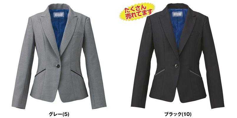 EAJ581 enjoy [通年]着痩せ効果がありストレッチで疲れにくいドット柄ジャケット 色展開