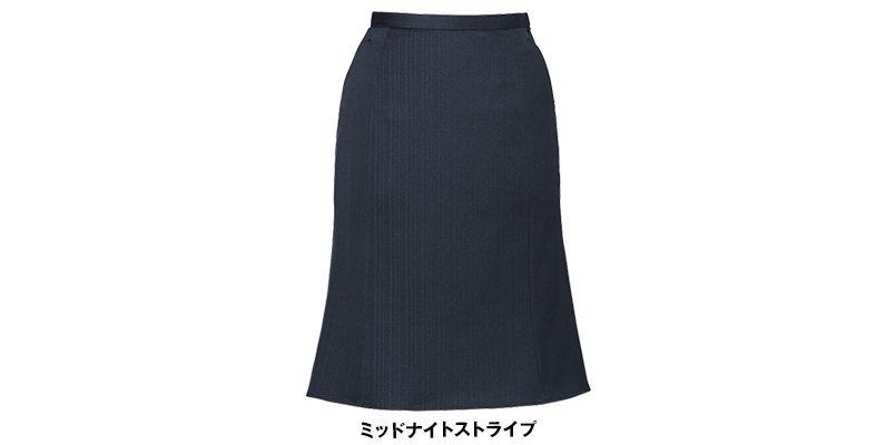 ENJOY EAS377  [通年]マーメイドスカート ストライプ 色展開