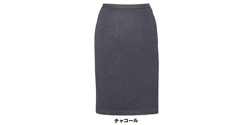 EAS416 enjoy セミタイトスカート 無地 色展開