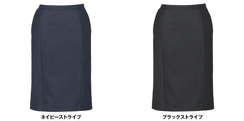 EAS476 enjoy セミタイトスカート 無地 色展開