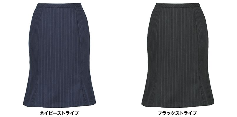 EAS477 enjoy [通年]マーメイドスカート ストライプ 色展開