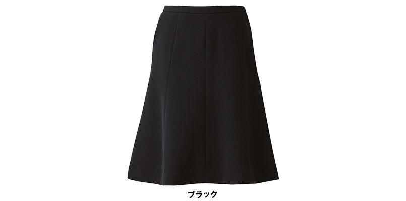 EAS514 enjoy フレアースカート 無地 色展開