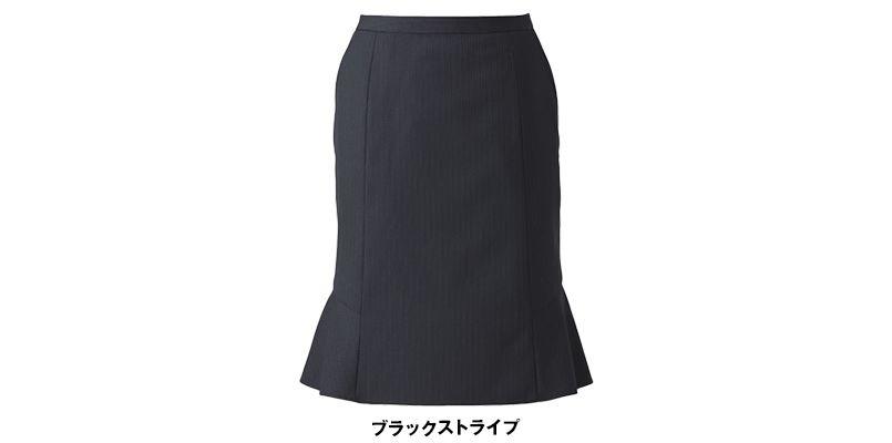 ENJOY EAS521 [通年]マーメイドスカート シャドーストライプ 色展開