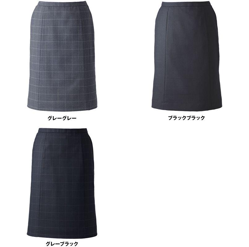 EAS528 enjoy セミタイトスカート チェック 色展開