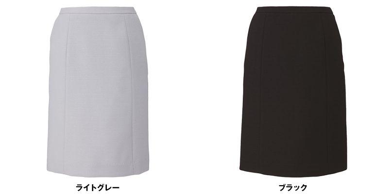 EAS573 enjoy セミタイトスカート 無地 色展開