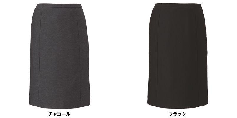 EAS588 enjoy [通年]セミタイトスカート ニット 無地 色展開