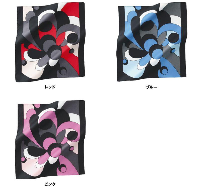 EAZ486 enjoy モダンな印象の人に気の幾何学柄のミニスカーフ 色展開