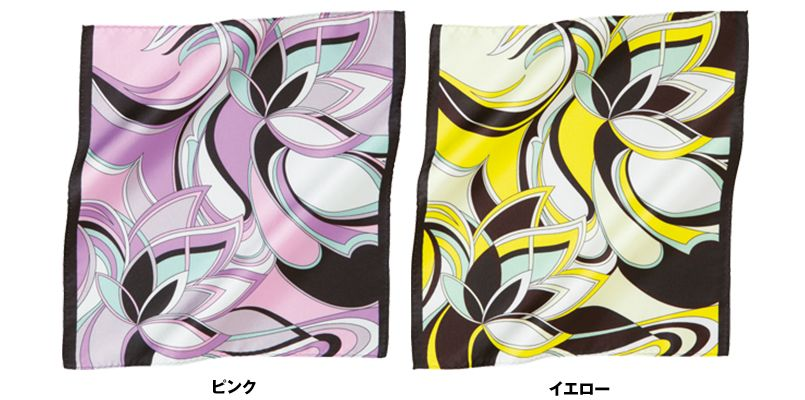 EAZ507 enjoy エレガントで華やかなフラワーモチーフのミニスカーフ 色展開