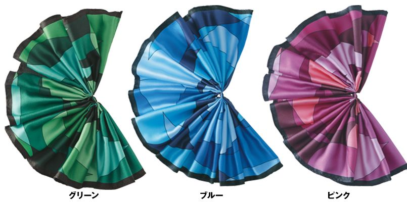 EAZ562 enjoy コーポレートカラーを生かして表情豊かなミニスカーフ 色展開