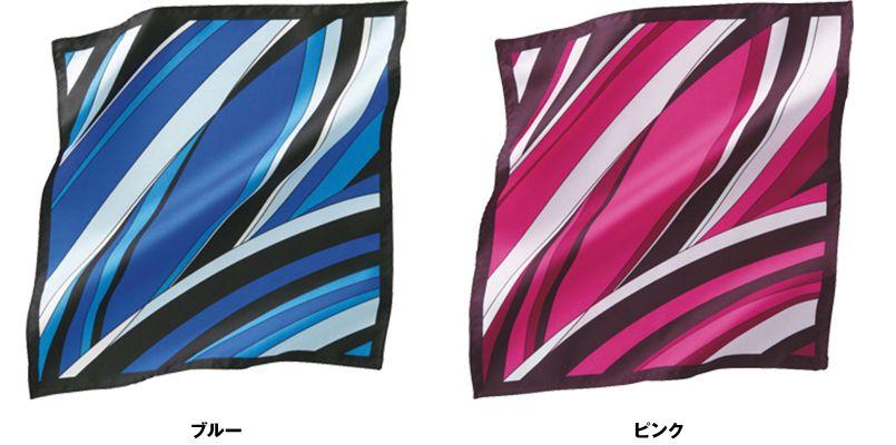 EAZ603 enjoy メリハリのきいたモダンなデザインのミニスカーフ 色展開