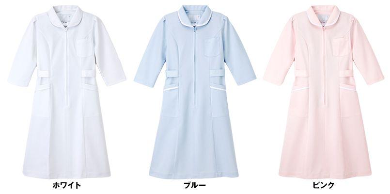 MI4636 ナガイレーベン(nagaileben) ミレリア 七分袖ワンピース(女性用) 色展開