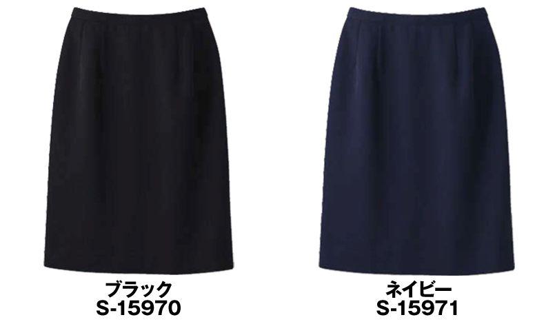 S-15970 15971 SELERY(セロリー) [春夏用]ニットなのに格段に涼しい!洗濯機で洗えるタイトスカート 無地 色展開