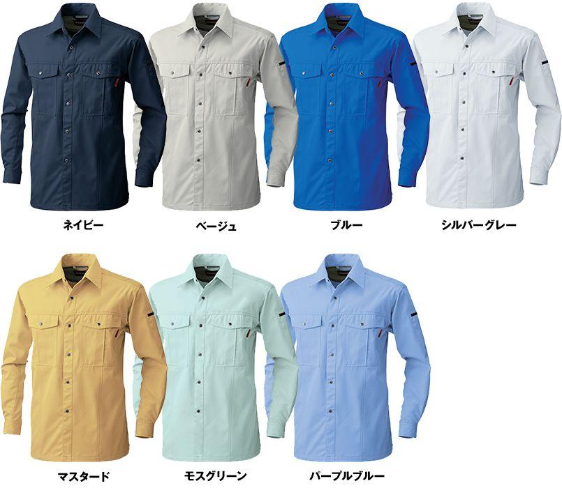 6115 桑和 長袖シャツ 色展開