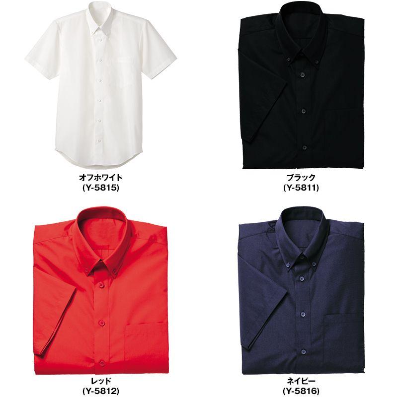 Y-5811 5812 5815 5816 Servo(サーヴォ) ブロードシャツ/半袖ボタンダウン(男女兼用) 色展開