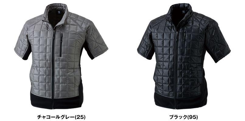 42256 TS DESIGN [秋冬用]マイクロリップショートスリーブジャケット(男女兼用) 色展開