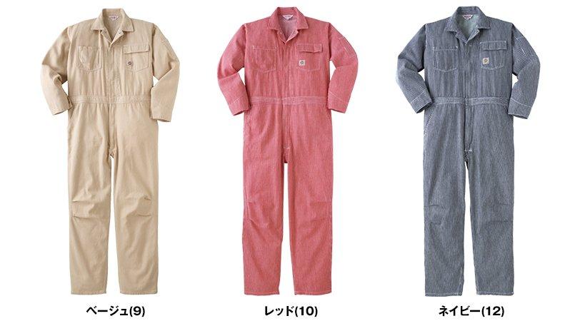 P018 ヤマタカ つなぎ 製品洗い アメリカンテイスト 通年 色展開