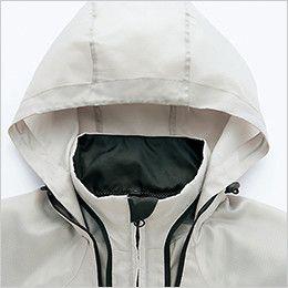 アイトス AZ10301 タルテックス フードインジャケット(薄地素材)(男女兼用) パイピングデザインのファスナーで収納できるフード
