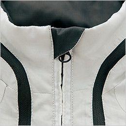 アイトス AZ10301 タルテックス フードインジャケット(薄地素材)(男女兼用) アゴにファスナーが当たるのを防止してノドを守るチンガード