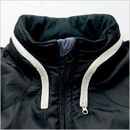 アイトス AZ10304 [秋冬用]タルテックス フードイン中綿ジャケット(男女兼用) スタンドカラー(フード収納時)