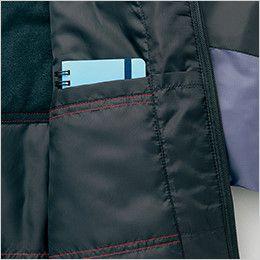 アイトス AZ10304 [秋冬用]タルテックス フードイン中綿ジャケット(男女兼用) 内ポケット