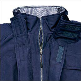 アイトス AZ10305 タルテックス リフレクションヒート防寒ブルゾン 寒気の侵入を防いで保温性を高める二重前打合せ
