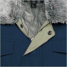 AZ10757 アイトス ドカジャン 防寒ブルゾン 襟ボア ドットボタン付き