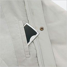 アイトス AZ1960 [秋冬用]3WAYショートコート(男女兼用) アウターの内ポケット