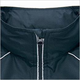 AZ2202 アイトス リフレクトジャケット(男女兼用) アゴにファスナーが当たるのを防止してノドを守るチンガード