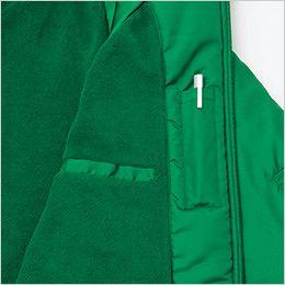 アイトス AZ2203 リフレクト裏フリースジャケット(男女兼用) ペン差しポケット&手帳などが収納できる縦型ポケット