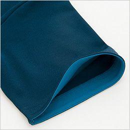 [在庫限り]AZ50006 アイトス 制電 半袖ボタウンダウンポロシャツ(男女兼用) 見返しにアクセントの配色使い