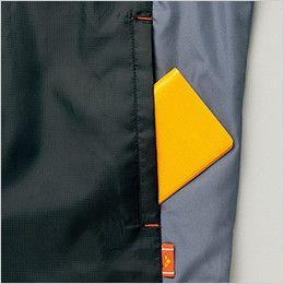 AZ50111 アイトス 裏フリースジャケット スポーティ軽防寒 ポケット付き