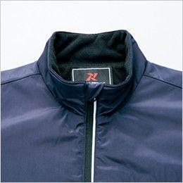 アイトス AZ50115 [秋冬用]アームアップ防寒ジャケット 首元チンガード&反射テープ仕様のファスナー