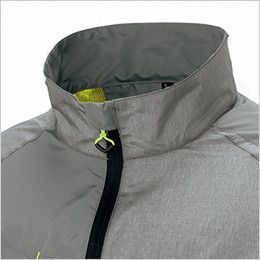 AZ50118 アイトス タルテックス 裏メッシュジャケット(男女兼用) フロントジッパーが直接あごに当たる不快感を防ぐチンガード付き