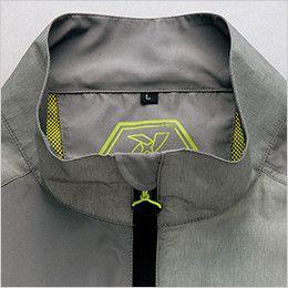AZ50118 アイトス タルテックス 裏メッシュジャケット(男女兼用) 首まわりがスッキリシャープに見える立衿仕様