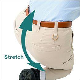 AZ50502 アイトス スタイリッシュカーゴパンツ(男女兼用) 口寸が大きい箱ポケット