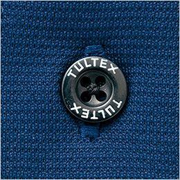 AZ551047 アイトス 冷感・長袖ボタンダウンポロシャツ(男女兼用) ロゴ入りの刻印ボタン